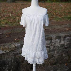 Rebecca Taylor white cotton dress size 12